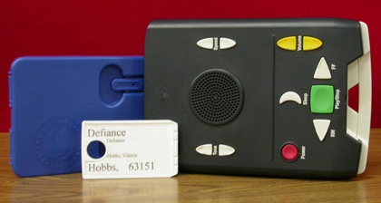 National Library Service Digital Talking Book Player and Cartridge